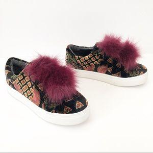 Sam Edelman Leya Faux Fur Laceless Sneaker